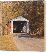 Melcher Covered Bridge Parke Co In Usa Wood Print