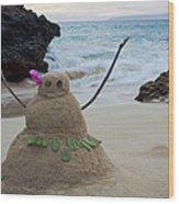 Mele Kalikimaka Merry Christmas From Paako Beach Maui Hawaii Wood Print