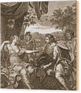 Meleager Presents The Boars Head Wood Print