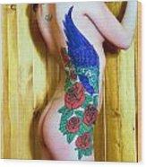 Melissa Go Go 3 Tatt Wood Print
