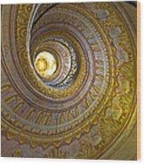 Melk Abbey Spiral Staircase Wood Print
