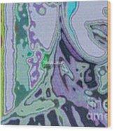 Mellody-blue Wood Print