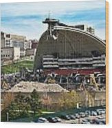 Mellon Arena Partially Deconstructed Wood Print by Amy Cicconi