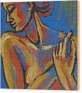 Mellow Yellow- Female Nude Portrait Wood Print