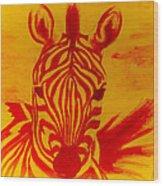 Mellow Yellow Zebra Wood Print