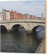 Mellows Bridge In Dublin Wood Print