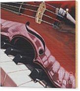 Melodic Reflections Wood Print
