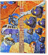 Melodies And Sunset Seas Wood Print