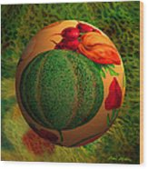 Melon Ball  Wood Print