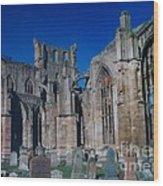 Melrose Abbey  Scotland Wood Print