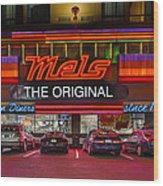 Mels Diner Wood Print