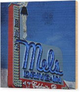 Mels Drive In Celebrity Bar Wood Print by Janice Rae Pariza