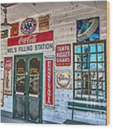 Mel's Filling Station Wood Print