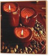 Melted Candles Wood Print