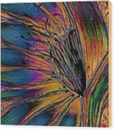Melted Crayons Wood Print