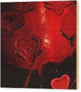 Melting Hearts Wood Print