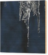 Melting Icicle Formation The Joker Wood Print