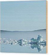Melting Sea Ice, Hudson Bay, Canada Wood Print