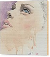 Melting Youthful Beauty Wood Print by P J Lewis