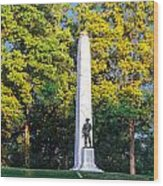 Memorial At Fort Donelson Wood Print