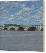 Memorial Bridge After The Storm Wood Print