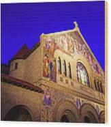 Memorial Church Stanford University Wood Print
