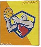 Memorial Day Basketball Classic Poster Wood Print