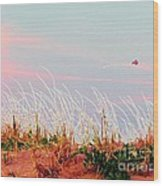 Memorial Day By The Sea Wood Print by Susan Carella
