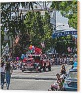 Memorial Day Parade In Grants Pass Wood Print