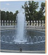 Memorial Fountain Washington Dc Wood Print
