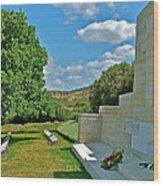 Memorial In Anzak Cemetery Along The Dardenelles In Gallipolii-turkey Wood Print