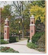 Memorial Park Autumn Wood Print