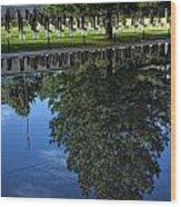 Memorial Reflecting Pool Wood Print