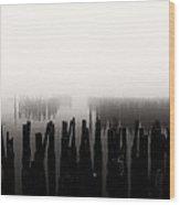 Memories And Fog Wood Print by Bob Orsillo