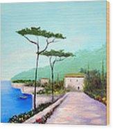 Memories  Of Lake Como Wood Print