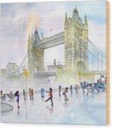 Memories Of London Bridge England Wood Print