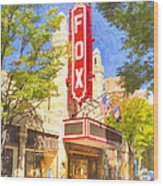 Memories Of The Fox Theatre Wood Print by Mark E Tisdale
