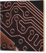 Memory Chip Wood Print