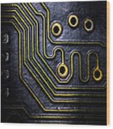 Memory Chip Number Two Wood Print