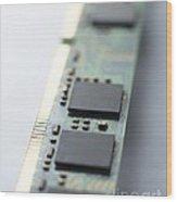 Memory Chips Wood Print