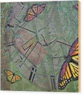 Memory Is Fleeting Memories Persist Wood Print by Marianne Campolongo