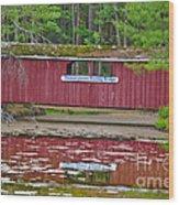 Memorytown Kissing Bridge Wood Print
