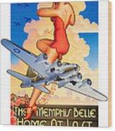 Memphis Belle Poster Wood Print