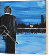 Memphis Dream With B B King Wood Print
