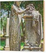 Memphis Elmwood Cemetery Monument - Cassie Hill Wood Print