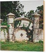 Memphis Elmwood Cemetery - Ayres Family Vault Wood Print
