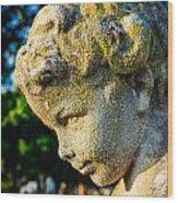 Memphis Elmwood Cemetery - Boy Angel Vertical Wood Print