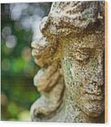 Memphis Elmwood Cemetery - Girl With Cross Close-up Wood Print