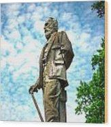 Memphis Elmwood Cemetery - Man With Cane Wood Print