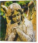 Memphis Elmwood Cemetery - Praying Angel Wood Print